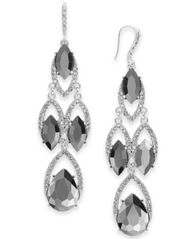 Image of I.N.C. Crystal & Stone Chandelier Earrings, Created for Macy's