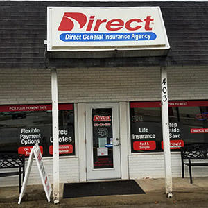 Front of Direct Auto store at 403 Erwin Road, Dunn