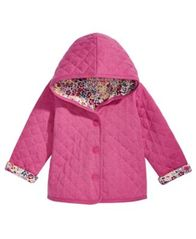 Image of First Impressions Baby Girls Ditzy Floral Quilted Reversible Cotton Jacket, Created for Macy's