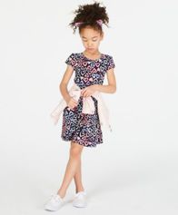 Image of Epic Threads Super Soft Little Girls Heart-Print Fit & Flare Dress, Created for Macy's