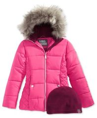 Image of Hawke & Co. Outfitter Abbey Hooded Puffer Jacket with Faux-Fur Trim, Big Girls (7-16)