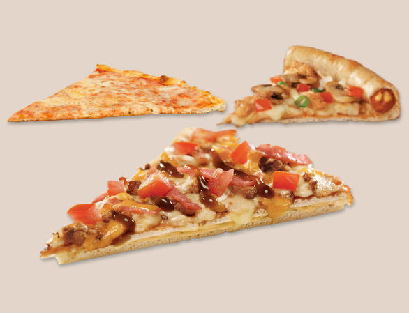 Enjoy your fave pizza, your way. Customise your pizza base! You can Double-Stack® it, get a Crammed-Crust®, make it Thin & Crispy or choose SlimFit for a healthier option