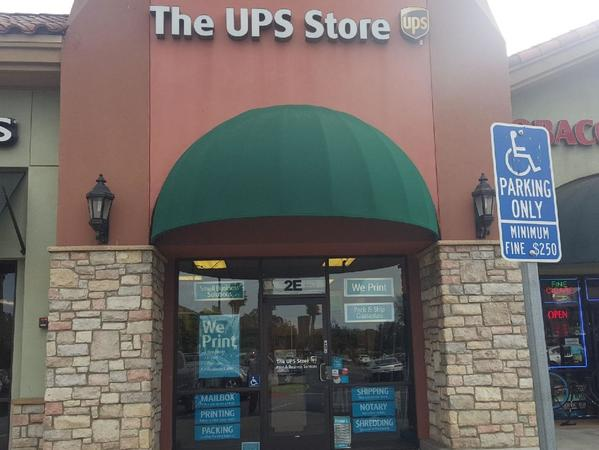 Facade of The UPS Store Fontana
