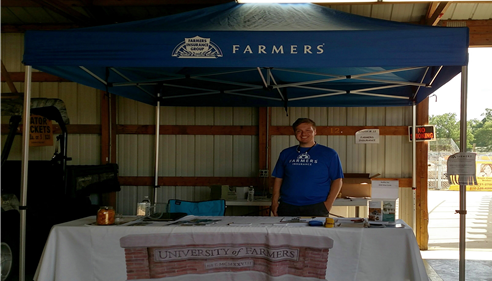 Sponsoring a booth at the Eastern Michigan State Fair, in Imlay City, Michigan.