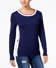Image of Hippie Rose Juniors' Side-Striped Sweater