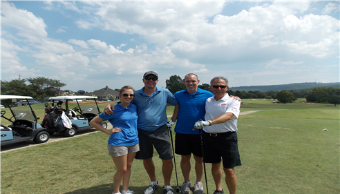 Having a great time at the annual NAIFA Golf Tournament.