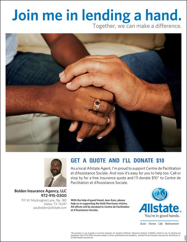 Allstate | Car Insurance in Dallas, TX - Bolden Insurance Agency LLC