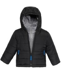 Image of S. Rothschild Hooded Puffer Coat With Fleece Vestee, Baby Boys (0-24 months)