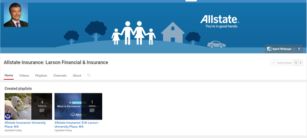 "Larson Financial & Insurance - Check out our YouTube channel to see our agency featured on ""Ask an Agent"""