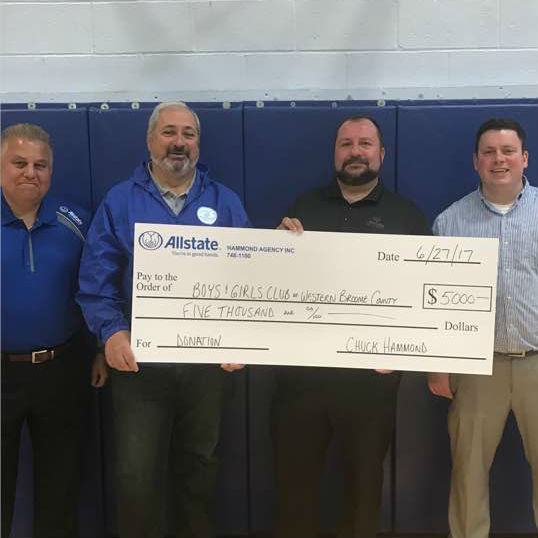 Charles Hammond - Allstate Foundation Helping Hands Grant for the Boys & Girls Club of Western Broome