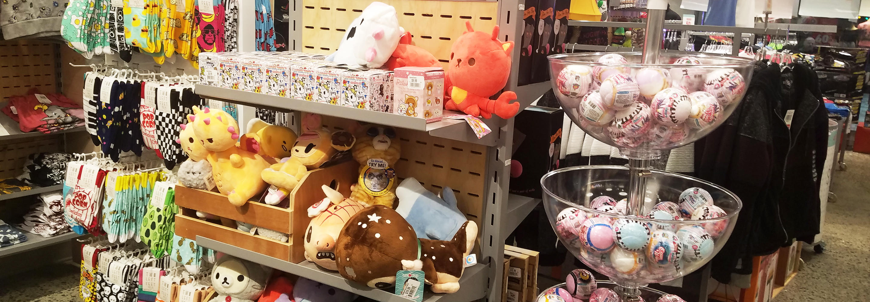 Navigate to image of Plush selection featuring Kaiju Kitties plush in FYE