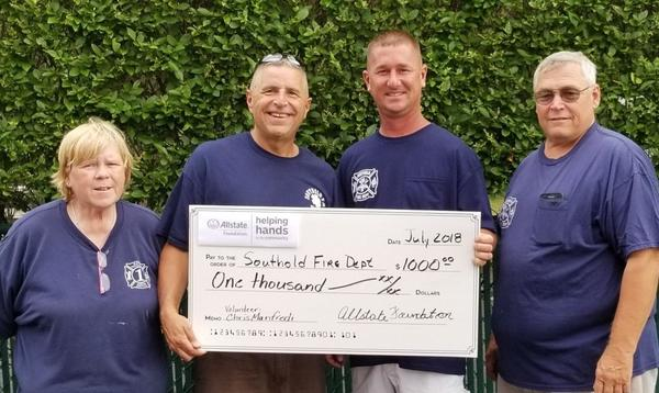 Chris W. Manfredi - Allstate Foundation Helping Hands Grant for the Southold Fire Department