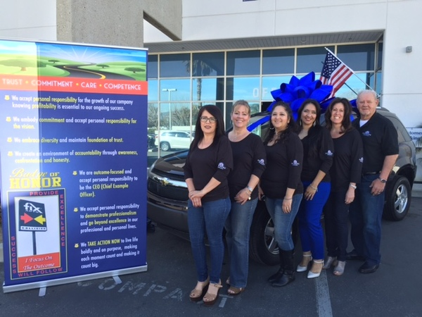 Celebrating a happy day!  Donating a vehicle to Corona native, wounded Army Veteran.