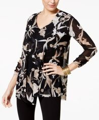 Image of Alfani Draped Asymmetrical Top, Created for Macy's