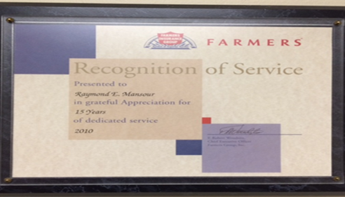 Recognition of Service for 15 years!