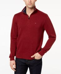 Image of Tommy Hilfiger French Rib Quarter-Zip Sweater