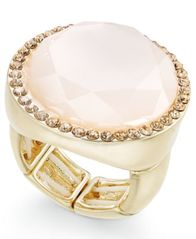Image of INC International Concepts Gold-Tone Pink Stone & Pavé Ring, Created for Macy's