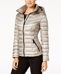 Image of Calvin Klein Packable Hooded Puffer Coat, a Macy's Exclusive Style