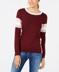 Image of Hippie Rose Juniors' Crew-Neck Colorblocked Sweater