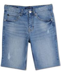 Image of Calvin Klein Big Boys Rip & Repair Denim Jean Shorts