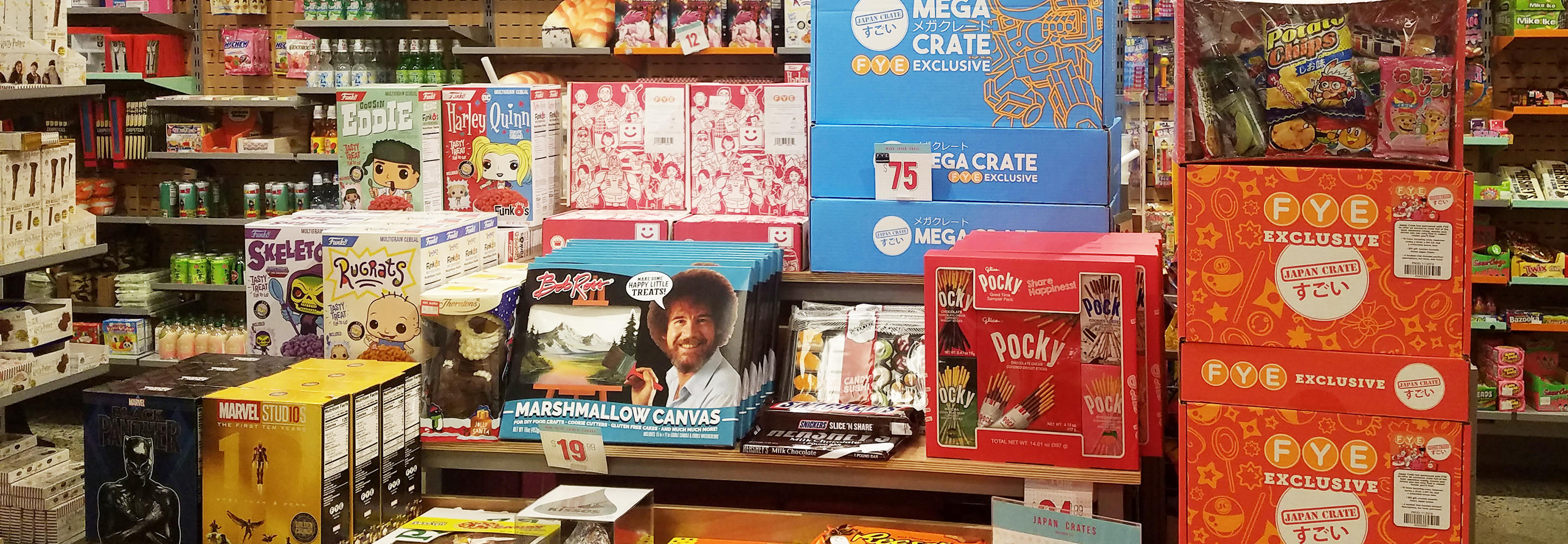 Candy assortments featuring Japan Crates in FYE