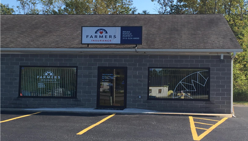 Exterior of the Farmers insurance agency