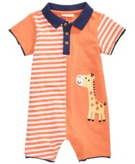 Image of First Impressions Cotton Giraffe Romper, Baby Boys, Created for Macy's