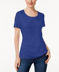 Image of Karen Scott Scoop-Neck T-Shirt In Regular & Petite Sizes, Created for Macy's