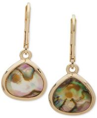 Image of Anne Klein Gold-Tone Stone Drop Earrings