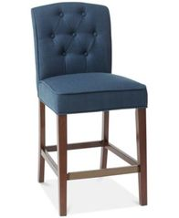 Image of Marian Tufted Counter Stool, Quick Ship
