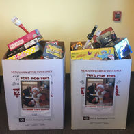 Geetu-Mistry-Allstate-Insurance-Gap-PA-Toys-For-Tots-boxes
