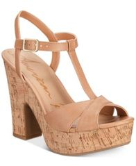 Image of American Rag Jamie T-Strap Platform Dress Sandals, Created for Macy's