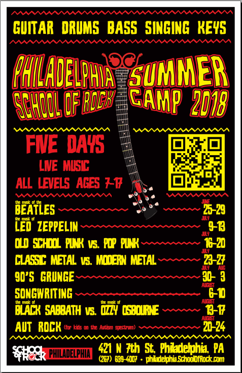 Image of Give the Gift of Rock! $50 Off All Summer Camps 2018!