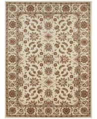 "Image of CLOSEOUT! KM Home Pesaro Meshed Ivory 2'2"" x 7'7"" Runner Area Rug"