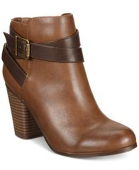 Image of Material Girl Lexia Block-Heel Booties, Created for Macy's