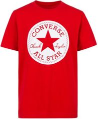Image of Converse Big Boys Chuck Taylor Logo Graphic Cotton T-Shirt