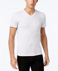 Image of Calvin Klein Men's Slim Fit V-Neck Textured Tee