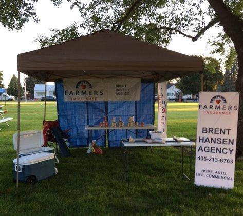 Our booth at the Lewiston 4th of July Celebration