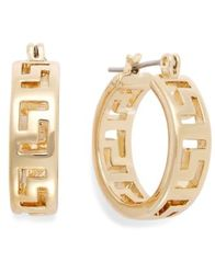 Image of Charter Club Greek Key Small Hoop Earrings