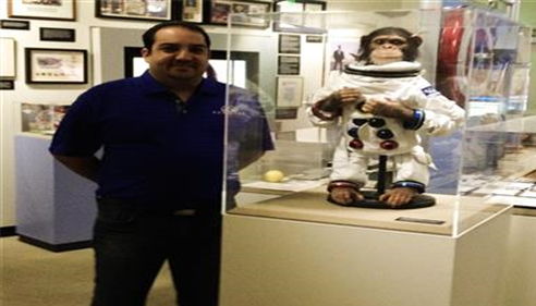 Space monkey at Farmers® Museum in Agoura Hills, California.