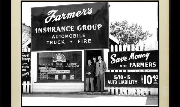 old photo of farmers insurance group
