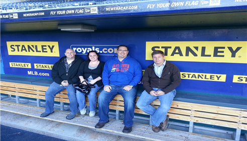 We had a great time at royals staduim for Harvesters.