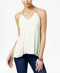 Image of American Rag Crocheted-Back High-Low Tank Top, Created for Macy's