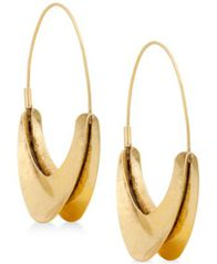 "Image of Lucky Brand Extra Large 2-2/5"" Hoop Earrings"