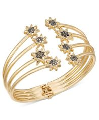 Image of INC International Concepts Crystal Star Hinged Cuff Bracelet, Created for Macy's