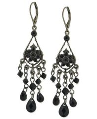 Image of 2028 Jet Bead Chandelier Earrings, a Macy's Exclusive Style