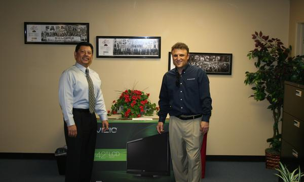 Frank Magana Jr one of our Grand Prize winner of our TV giveaways!