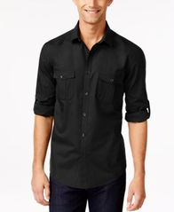 Image of Alfani Men's Warren Long Sleeve Shirt, Created for Macy's