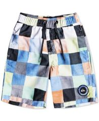 Image of Quiksilver Resin Check Swim Trunks, Little Boys