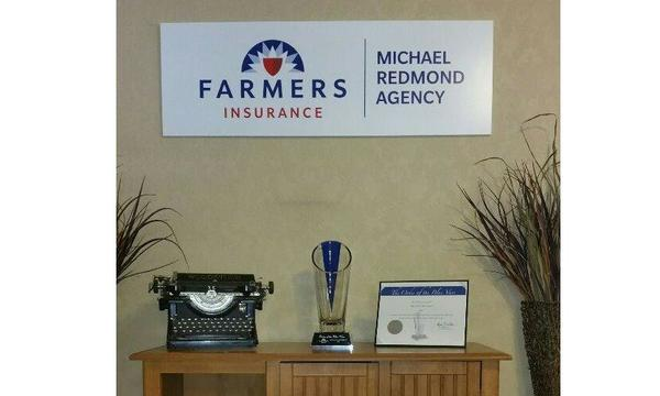 Interior Sign and Farmers Blue Vase Award